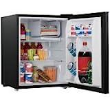 2.7 cubic foot compact dorm refrigerator - (Black)