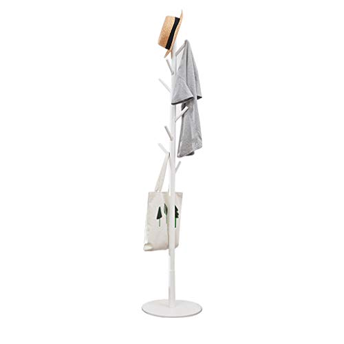 Vicllax Coat Rack Stand 8 Hooks Clothes Scarves Rack Stand Hanger Organizer Free Standing Hall Tree (White)