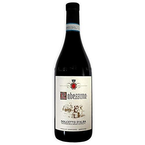 Rabezzana - Dolcetto d'Alba DOC - Bottiglia 75 cl - Vino Rosso Rubino Caratteristico e Profumato - Vitigno Autoctono Piemontese