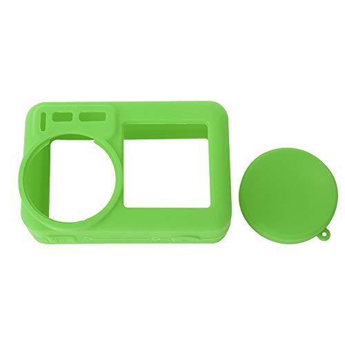 Lantro JS Prevenire dai Graffi Cover per Action Cam, Cover Protettiva per Fotocamera Ecologica, Cover per Fotocamera in Silicone, Antipolvere Portatile Elastico per DJI(Green)