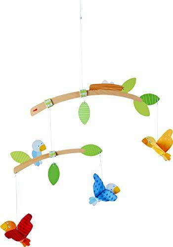 HABA 304314 - Mobile Vögelchen, Babyspielzeug für den Wickeltisch, stimuliert die Sinne von Babys, ideal als Geschenk zur Geburt und Taufe
