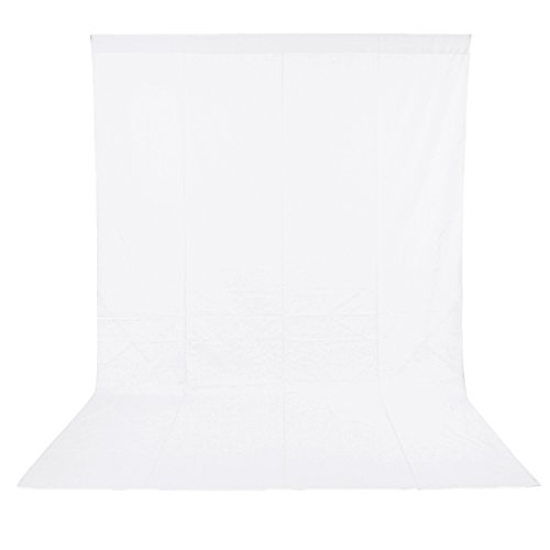 Neewer 6x9 feet/1.8x2.8 meters Photo Studio 100 Percent Pure Polyester Collapsible Backdrop Background for Photography, Video and Television (Background Only) - White (Electronics)