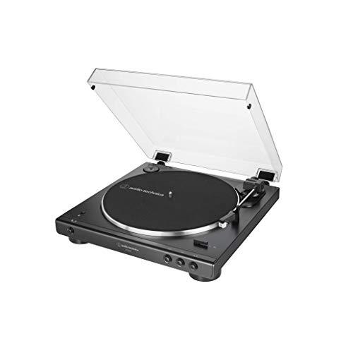 Audio-Technica AT-LP60XBT-BK Fully Automatic Bluetooth Belt-Drive Stereo Turntable, Black, Hi-Fi, 2 Speed, Dust Cover, Anti-Resonance, Die-cast Aluminum Platter