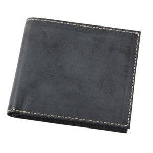 (フリュー)FRUH 財布 メンズ 二つ折り F ブラック