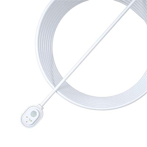 Cable de carga magnético para exteriores Arlo para cámaras de vigilancia Arlo Ultra, Ultra 2, Pro 3 y Pro 4, accesorio Arlo original, blanco, VMA5600C-100PES
