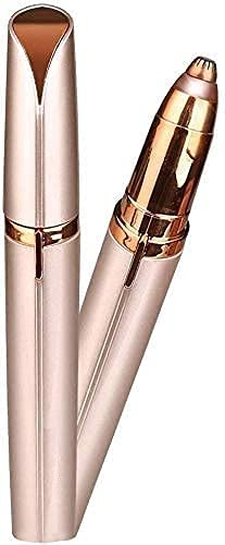 Vloxstar Portable eyebrow trimmer for women, epilator for women, facial hair remover for women,Face, Lips, Nose Hair Removal Electric Trimmer with Light (N)