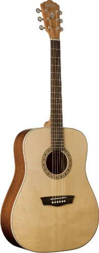 Washburn WD7S Harvest Series Solid Sitka Spruce/Mahogany Dreadnought Acoustic Guitar - Natural Gloss
