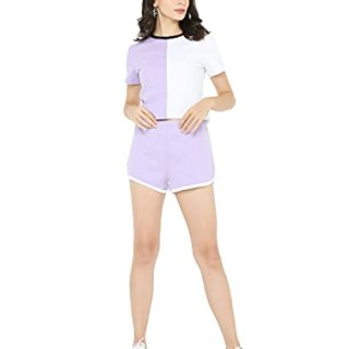 BLANCD Women's Casual Roundneck Short Sleeve Tshirt and Shorts Co-ord Set