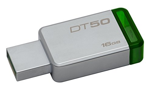 Pendrive Datatraveler 50 16Gb, Kingston, Prata/Verde