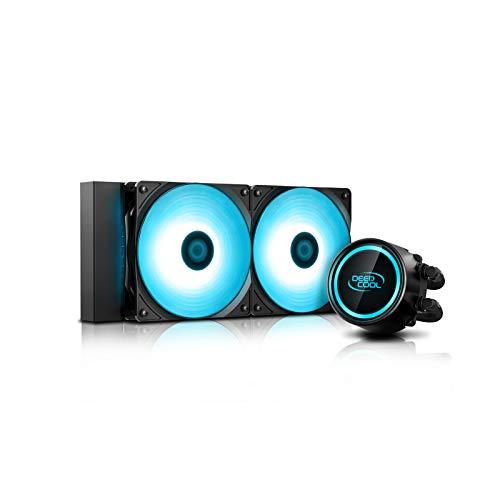 DEEP COOL GAMMAXX L240 V2, Raffreddamento a Liquido per CPU, Sistema Anti-Perdite Tecn,Pompa RGB e Ventole di Sincronizzazione RGB, Controllato dalla Scheda Madre, Compatibile AM4, 3 Anni di Garanzia