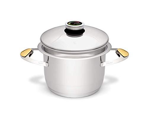 Zepter Masterpiece CookArt - Pentola da 4,2 l,  20 cm, per cucinare senza acqua o arrostire senza grassi, lavabile in lavastoviglie