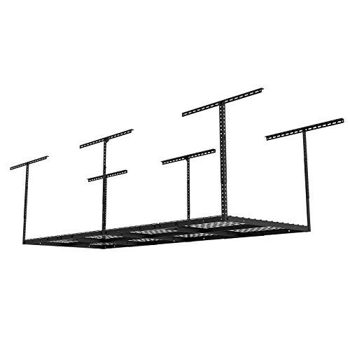 FLEXIMOUNTS 3x8 Overhead Garage Storage Rack Adjustable Ceiling Storage Rack Heavy Duty 96' Length x 36' Width x...