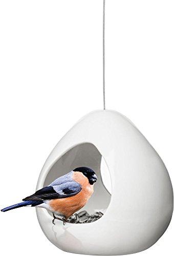 Sagaform Vogelvoerbak   Keramiek   Wit   13 x 14,5 x 16 cm
