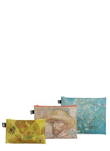 LOQI VAN GOGH Gogh Museum Zip Pockets Portamonete, 32 cm, 1 liters, Multicolore (Self Portrait,...