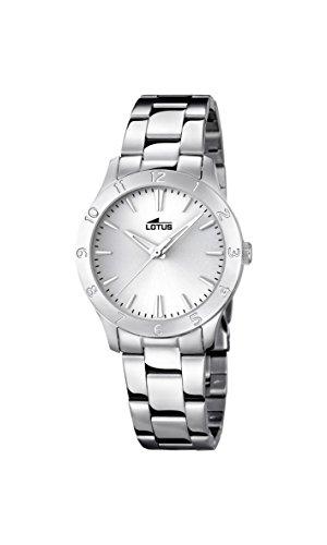 Lotus Damen Analog Quarz Uhr mit Edelstahl Armband 18138/1