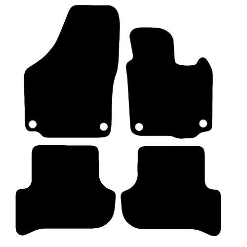 Carsio CARP-CUT-2157-(55 x 4) Tappetini auto su misura per Skoda Yeti dal 2009 in poi, 4 pezzi con 4 clip