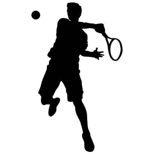 TheVinylGuru Tennis Wall Decal Sticker 31 - Decal Stickers and Mural for Kids Boys Girls Room and Bedroom. Tennis Sport Wall Art for Home Decor and Decoration - Tennis Silhouette Mural