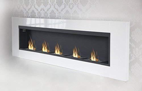 Druline 5 Burner Luxury Chimney Bio Ethanol Gel Fireplace Wall Fireplace Cheminee White High Gloss