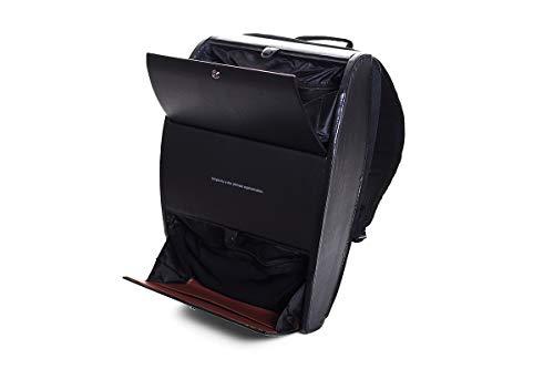 【ブラウデザイン】BLAUDESIGN Backpack ブラック ハードシェル バックパック イタリアンレザー 革張り 大人ランドセル リュックサック 通勤リュック ビジネスリュック
