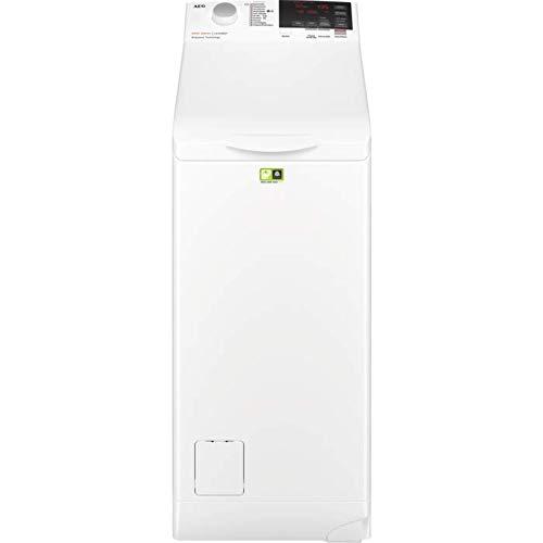 AEG L6TBA664 Waschmaschine Toplader / Energiesparender Waschvollautomat A+++ / Mit ProSense-, Eco- & TimeSave-Technologie / 40 cm breit mit 6kg Fassungsvermögen