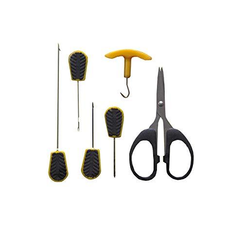 Fishing Tackle Max Boilie Tool Set Carpe accessori assortimento con forbici esche aghi Boilie punta per trapano