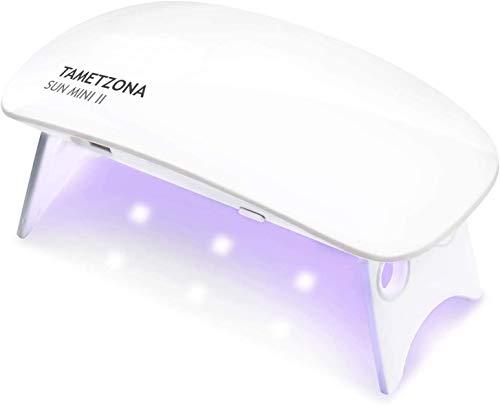 TAMETZONA Lámpara Secado Manicura uñas UVLed portatil 8W...