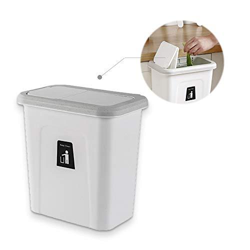 Hängender Abfalleimer, ür-Abfalleimer, Schrank-Abfalleimer, Küchen-Mülleimer, Abfallsammler Multi-Kitchenbox, Push-top Trash Can Hanging, Dunkelgrau