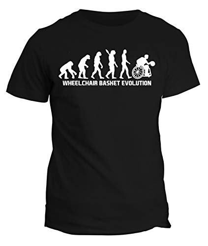 fashwork Tshirt Wheelclair Basket Evolution - Basket in Carrozzina - Sport - Idea Regalo