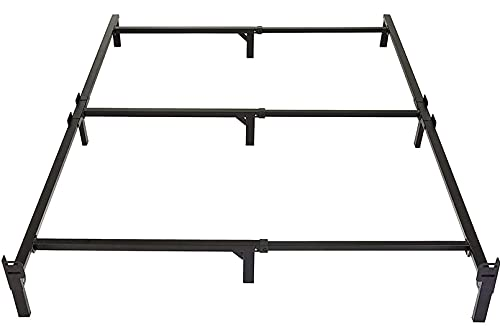 Amazon Basics Metal Bed Frame, 9-Leg Base for Box Spring and Mattress - Full, 74.5 x 53.5-Inches, Tool-Free Easy Assembly