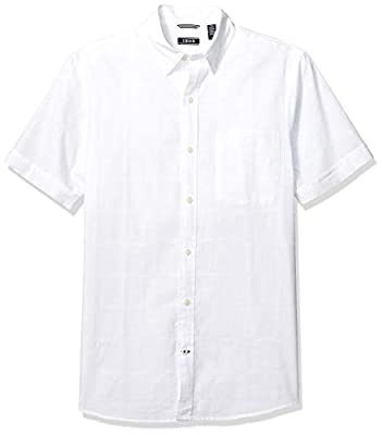 100% Cotton Imported Button closure Machine Wash Button down collar Saltwater wash for a relaxed, worn-in comfort, Easy care - machine washable so you can wear it straight from the dryer, This shirt has a windowpane pattern that is perfect for any oc...