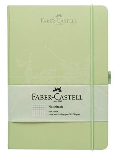 Faber-Castell 20501 - Notizbuch, 145 x 210 mm, FSC-Mix, kariert, mint, 1 Stück