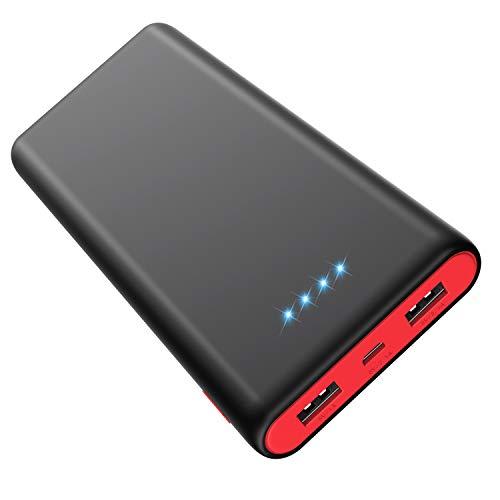 HETP [Noire et Rouge HX-Y8] Batterie Externe 25800mah Power Bank Chargeur...