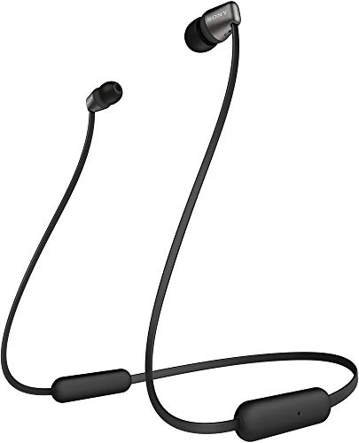 Sony WI-C310 Wireless Headphones with 15 Hrs Battery Life, Quick Charge, Magnetic Earbuds for Tangle Free Carrying, BT ver 5.0,Work from home, In-Ear Bluetooth Headset with mic for phone calls (Black)