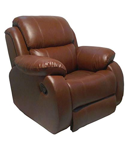 WellNap Single Seater Comfortable Recliner Chair (Brown)