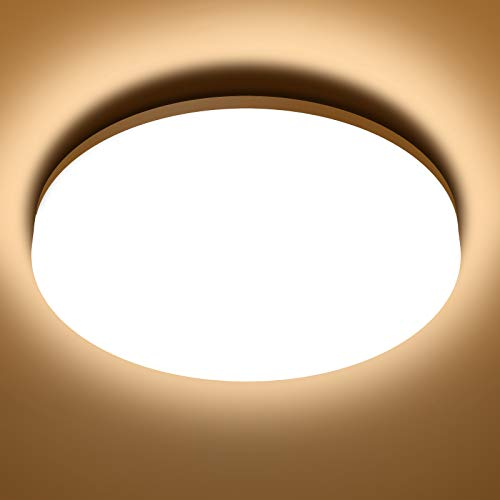 NIXIUKOL 18W Deckenlampe, LED Deckenleuchte 3000K Warmweiß, IP54 Wasserfest Badlampe Wohnzimmerlampe Schlafzimmerlampe 1800LM ideal für Badezimmer Balkon Flur Küche, Ø22cm