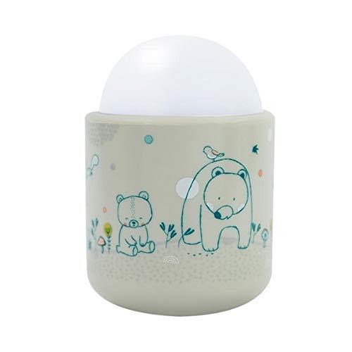 Pabobo - Dans les bois - Veilleuse Portable LED à Lumière Douce pour Bébé et Enfant - Rechargeable - 70 heures d'autonomie sans pile ni fil - Beige