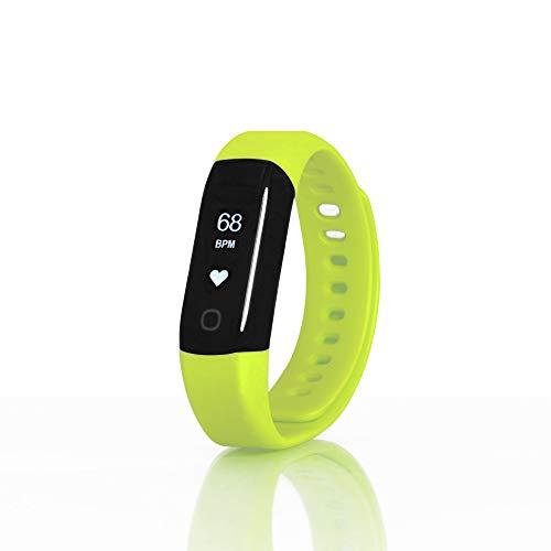 Sharon Wellsmart Sport Bracciale, Fitness Tracker, Cardiofrequenzimetro, Impermeabile, Compatibile con Apple Health Google Fit, Verde