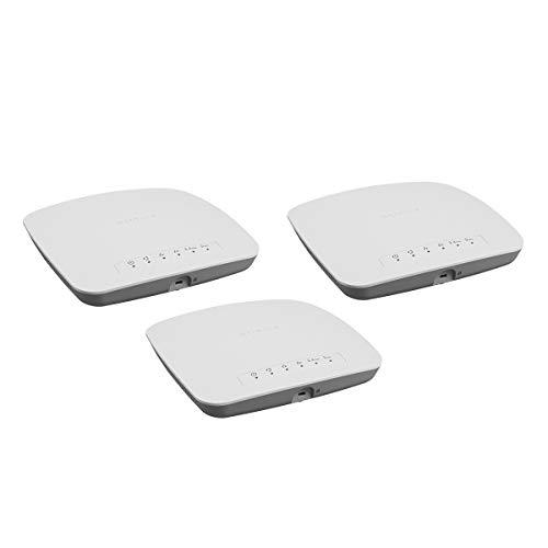Netgear WAC510B03-10000S ProSAFE Access Point e Ripetitore Wireless AC1200 Wave 2, Gestione Semplificata Tramite App Insight, MU-MIMO, 1167 Mbps, Cloud/App Management, 3 Pezzi, Bianco