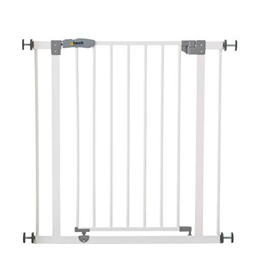 Hauck Open 'n Stop | Metalen hekje voor deuren of muren | Met één hand te openen | Eenvoudig te plaatsen