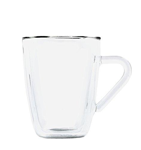 Luigi Bormioli Duo Bicchiere da tè a Doppio Rivestimento, 32 cl, Set di 2, Vetro borosilicato, 85x118x115mm