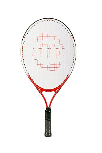 Maspro Graphite-Lined-Aluminum Junior 23 Tennis Racquets (Red and White)