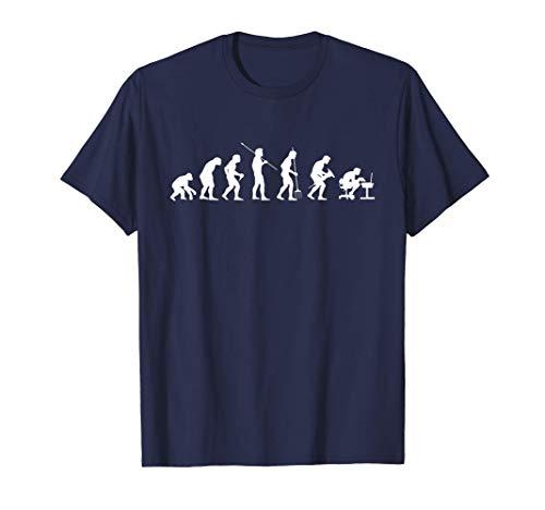 Evolucion del mono al hombre informatico. Regalo Programador Camiseta