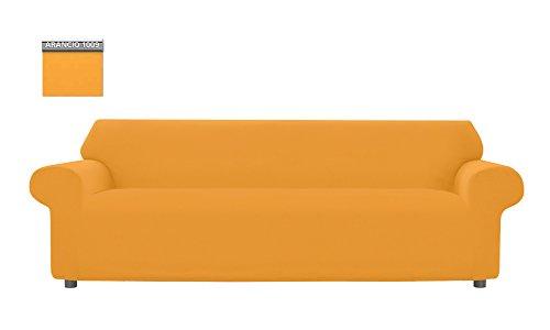 Copridivano Genius Tinta Unita, Per Divano XL 4 Posti, Colore Arancione 1009