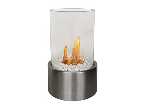 PURLINE DISIS Bio-Ethanol Table Fireplace with cylindrical glass