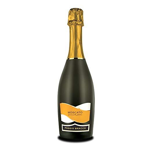 Poggio Bracco - Moscato spumante aromatico dolce - Vino Italiano tradizionale da pasto | Bottiglia da 750 ml