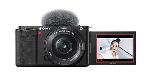 Sony Alpha ZV-E10 - Kit Vlog Camera ad Ottiche Intercambiabili + Obiettivo 16-50mm, APS-C, Schermo ad Angolazione Variabile per Vlog, Video 4K, Real-time Eye Autofocus, ZVE10 + SELP1650