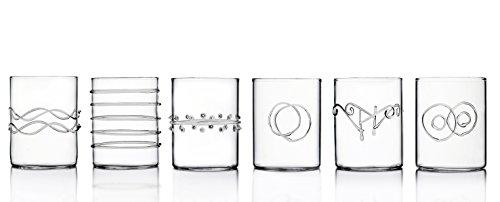 Ichendorf Milano 09352008 Set di 6 Bicchieri per Liquore, Decò