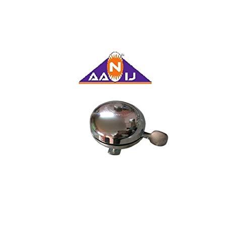 AANIJ™ Bicycle Basant Iron Handlebar Gear Bell Ring Loud Sound (Silver)