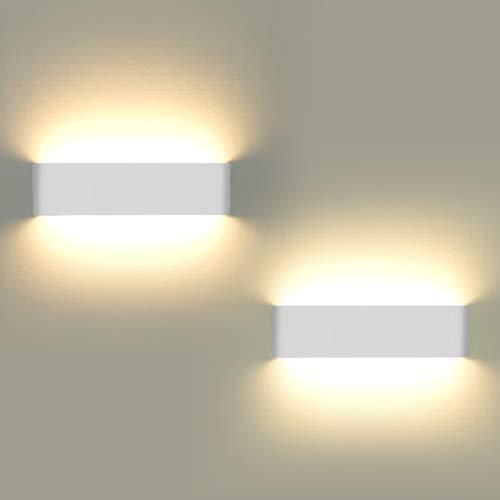 Lampade da parete per interni, 2 pezzi Applique da parete 12W LED Luci su e gi Lampada da parete...