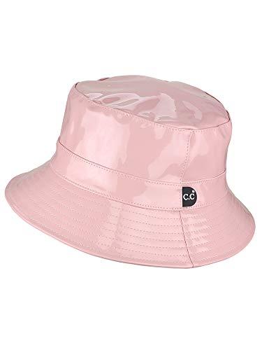 C.C Women's All Season Foldable Waterproof Rain Bucket Hat, Rose